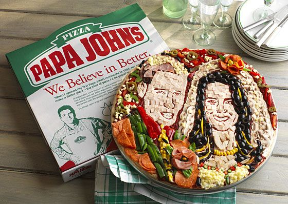 Yep, it's William and Kate in Pizza form.