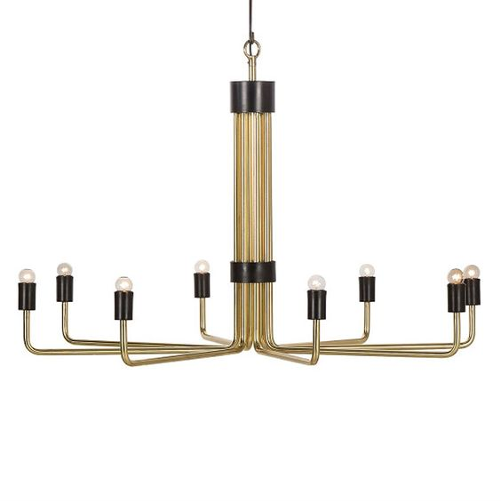 The Le Marais is a modern classic. Simple in it's clean lines, it's design fits comfortably in a downton loft or modern chateau. It's unique and timeless.  Materials: Brass, iron