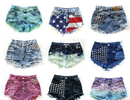 DIY SUMMER SHORTS.  Another collection of crazy summer shorts I made for my customers and myself. Some of diy ideas come from internet, some are mine. I love new stuff I can't find in near stores. <3   https://www.facebook.com/dajana.devic