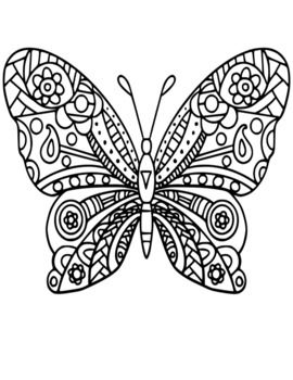 Butterfly Coloring Pages With Images Butterfly Coloring Page