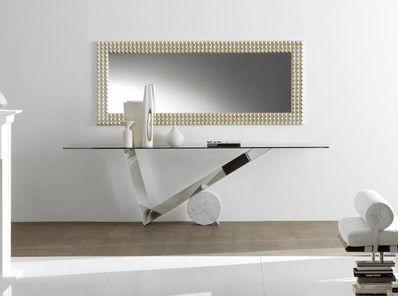 Valentinox console table  Mirrored Console Table Design Inspiration With Mirrored Console Table Designs 2cc2a6a7ec1794d0f3759502f0cbf423