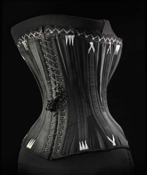 "Corset ca. 1893-97 From the exhibition ""A Century of Style: Costume and Colour 1800-1899″ at Glasgow Museums:"