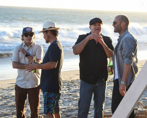 Richard Woolcott, Takuji Masuda, MoDaddy, Jason Statham - Kelly Slater, John Moore et leurs amis fêtent le lancement de Outerknown à la Gesner Beach House de Malibu, Los Angeles, le 29 août 2015