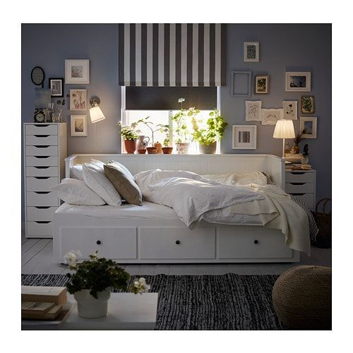 Hemnes Day Bed 3 Drawers 2 Mattresses White Malfors Medium Firm Ikea Germany Bed Day Drawers Firm In 2020 Ikea Hemnes Daybed Day Bed Frame Hemnes Day Bed