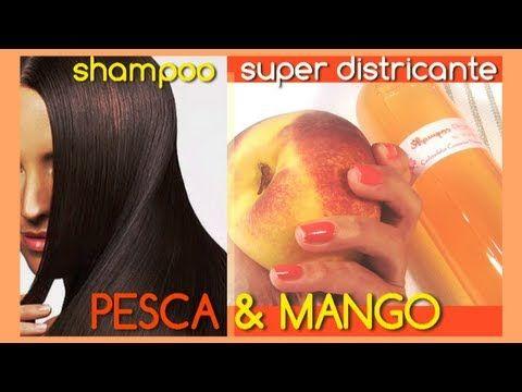 SHAMPOO NATURALE Fai da te ☆ SUPER DISTRICANTE Pesca & Mango ☆ !!!