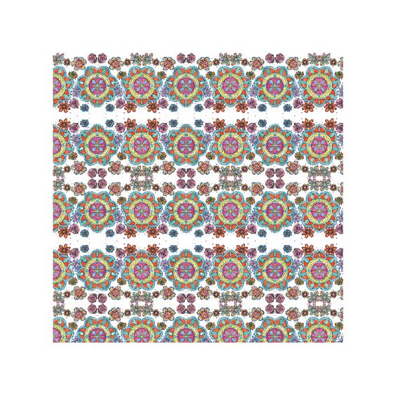 "My fabric pattern "" Alice Look! Kaleidoscope """