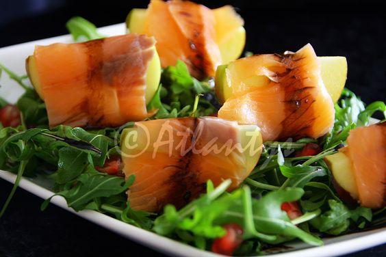 Terapia do Tacho: Salada de rúcula com maçã e salmão fumado (Arugula salad with apple and smoked salmon)
