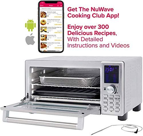 New Nuwave Bravo Xl 1800 Watt Countertop Convection Oven Flavor Infusion Technology Fit Integrated Temperature