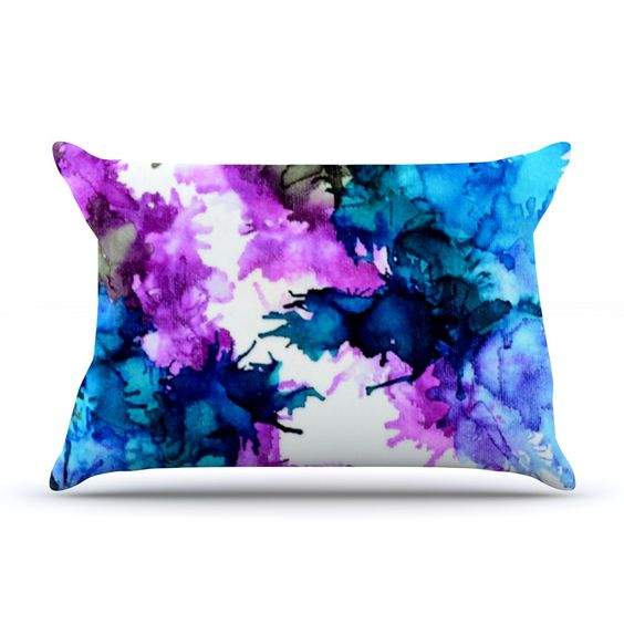 "Claire Day ""Utopia"" Blue Pink Pillow Sham"