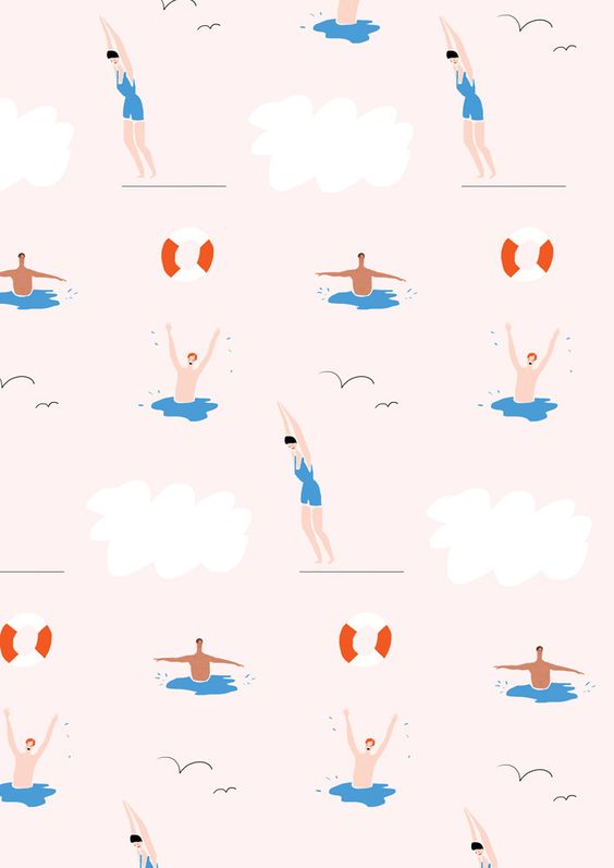 Swimmers Patterns And Illustrations On Pinterest