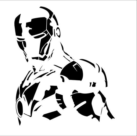 Iron man stencil wall stencils pinterest ironman