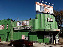 Former Cunningham's Drug Store: Grand River Avenue and Oakman Boulevard # 1--Detroit MI Credit:pinehurst19475 on Flickr.
