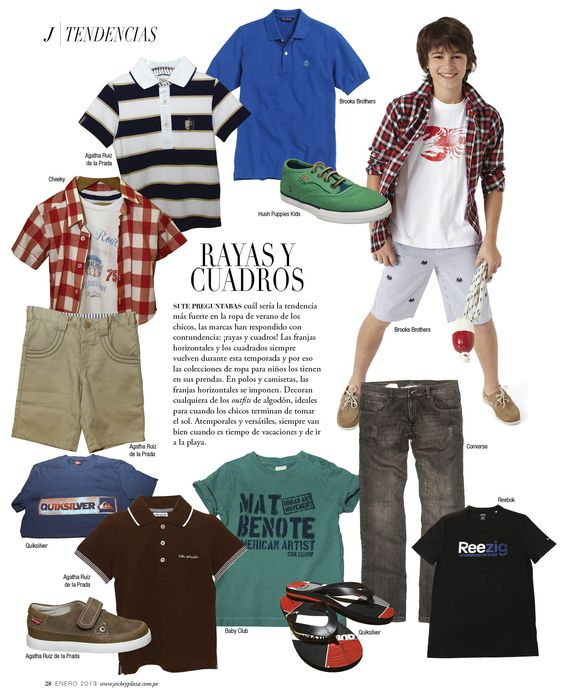 Rayas y Cuadros - Revista J #kids  #summer  #loveit #fashionnews #fashiontips #shopping
