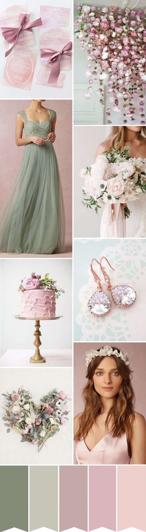 Find Out How to Create A Pretty Pink, Sage and White Wedding on www.onefabday.com: