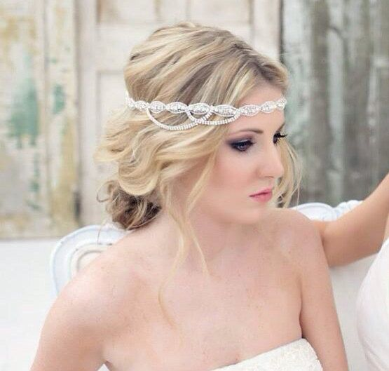 Crystal Headband Wedding Rhinestone Hairpiece Bridal Headpiece Bride