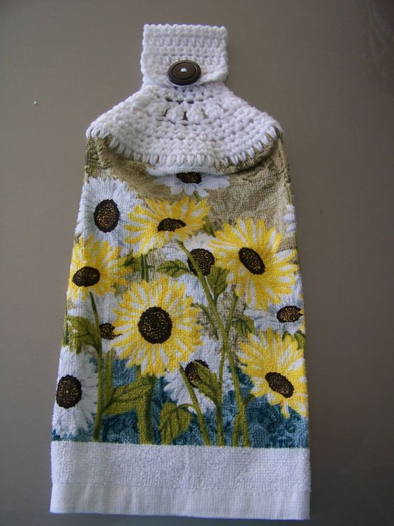 Hanging Dish Towel Hanging Kitchen Towel Crochet Top