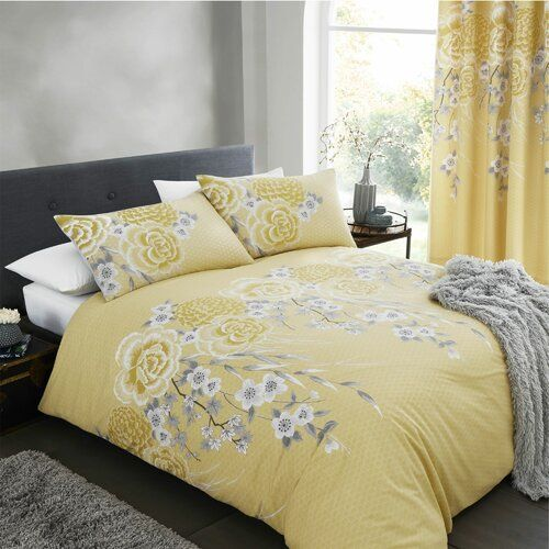 Catherine Lansfield Oriental Blossom Easy Care Duvet Cover Set Duvet Cover Sets Double Duvet Covers King Duvet Cover Sets