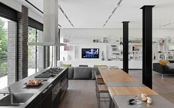 Décoration du0027intérieur du0027une maison contemporaine Smart kitchen - logiciel gratuit architecte d interieur