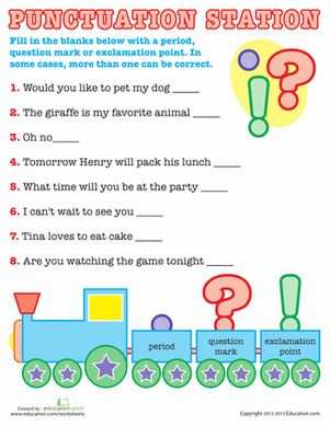 Basic Punctuation | Worksheets, First grade and Sentences