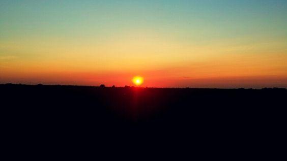 A summer Kansas sunset