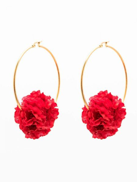 Pendientes de Flamenca 2018 - Pendientes de flamenca de aro - Pendientes de Flamenca Rojos - Pendientes de Flamenca Dorados - Pendientes de Flamenca originales - Pendientes de Flamenca artesanales - Pendientes de Flamenca Hechos a Mano - Marbearte