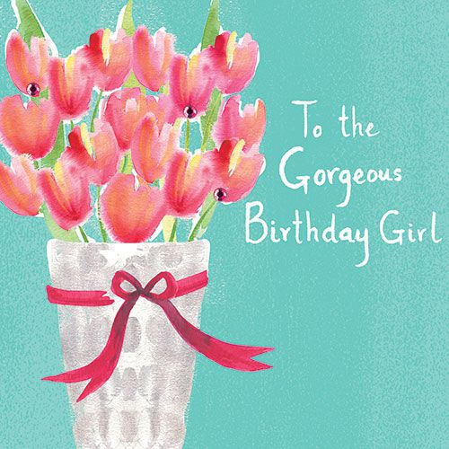 A lovely birthday card with a pretty tulips design – Lovely Birthday Greetings