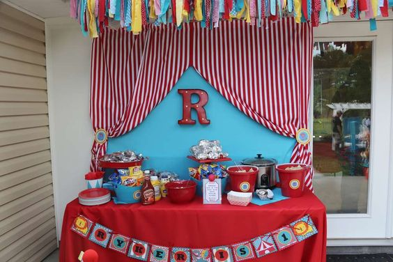 First Birthday Circus Party Birthday Party Ideas | Photo 1 of 22