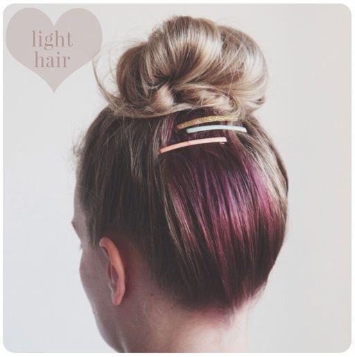 when your hair is down, you can't see it, but dying a section at the back for when you wear your hair up- love it!: