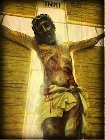 Imagem do Crucificado em nossa Capela ........ Image of the Crucified in our Chapel.