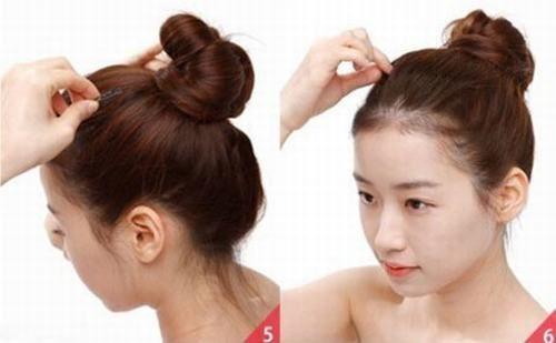 cách buộc tóc cao