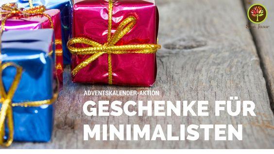 Adventskalender Tür 16: Geschenke für Minimalisten - mit Geschenk am End...