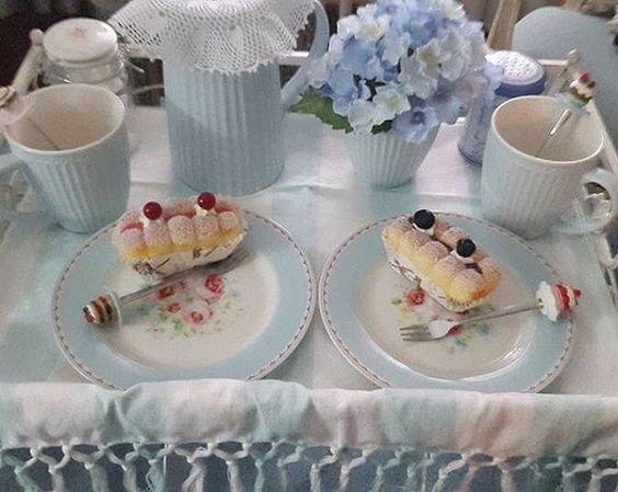Boa noite Hoje com uma inspiração para o pequeno-almoço de amanhã de uma das nossas queridas clientes!  @greengateofficial #happycustomers #greengateofficial