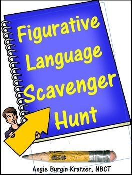 figurative language scavenger hunt advanced ap english terminology assessment language and. Black Bedroom Furniture Sets. Home Design Ideas