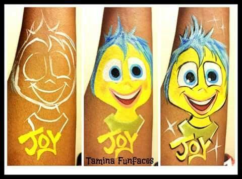"Tamina Fun Faces ""inside out joy"" face painting"