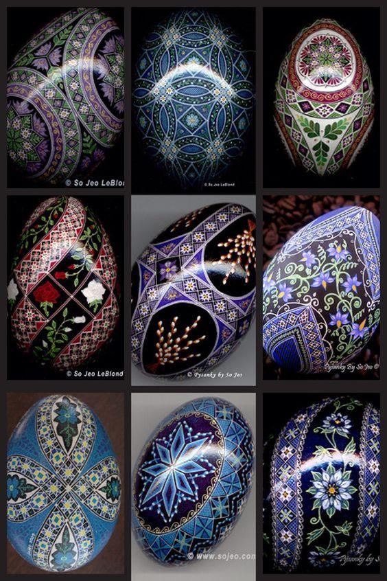 Beautiful Pysanka, Pysanky Egg Art by So Jeo
