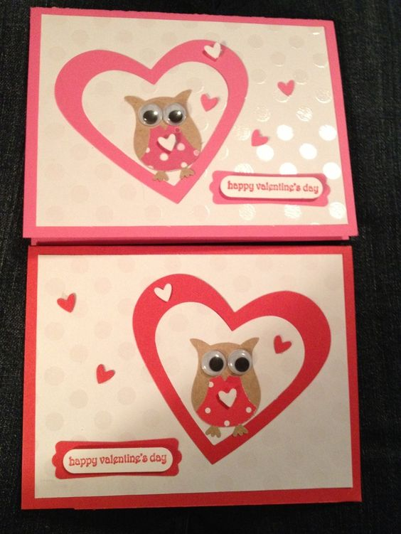 stampin up pretty valentine cards stampin up owl valentines card making arty - Stampin Up Valentine Cards