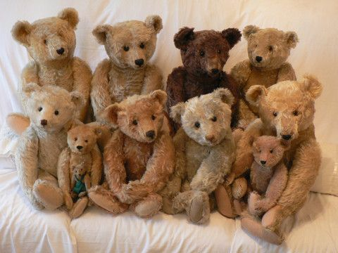 Steiff (1900s) Group of Stunning Steiffs. Teddies of Trenode. – Grandma's Teddies // Wow I would love everyone of them !!