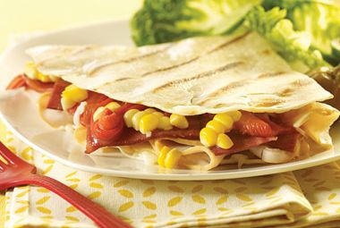 Crazy Turkey Quesadilla | #turkey #recipes #Mexican #quesadillas #kidfriendly #JennieO | http://www.jennieo.com/recipes/764-Crazy-Turkey-Quesadilla