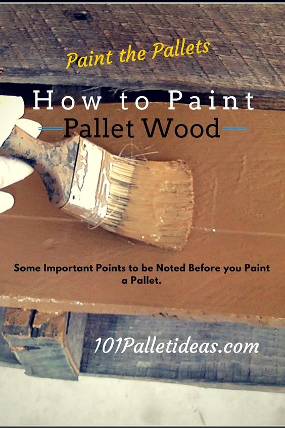 Garden Centre: Things-you-need-to-know-before-painting-a-wooden-pallet