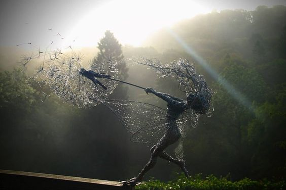 Fairy Sculptures by Robin Wright