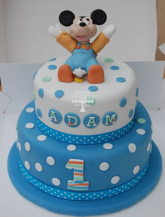 1st Birthday Cake Cartoon Images : Baby Mickey Mouse Cake 8x6 Devoted To Cakes Cartoon ...