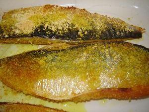 Filets de maquereau panés selon Julie Andrieu