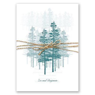A beautiful forest of trees in the color of your choice decorates this invitation. #WinterWedding #WeddingInvitations #DavidsBridal http://www.invitationsbydavidsbridal.com/Wedding-Invitations/Seasonal-Invitations/2947-DBN28805HDF-Hidden-Forest--Gem--Invitation-with-Overlay.pro?&sSource=Pinterest&kw=Winter_DBN28805HDF