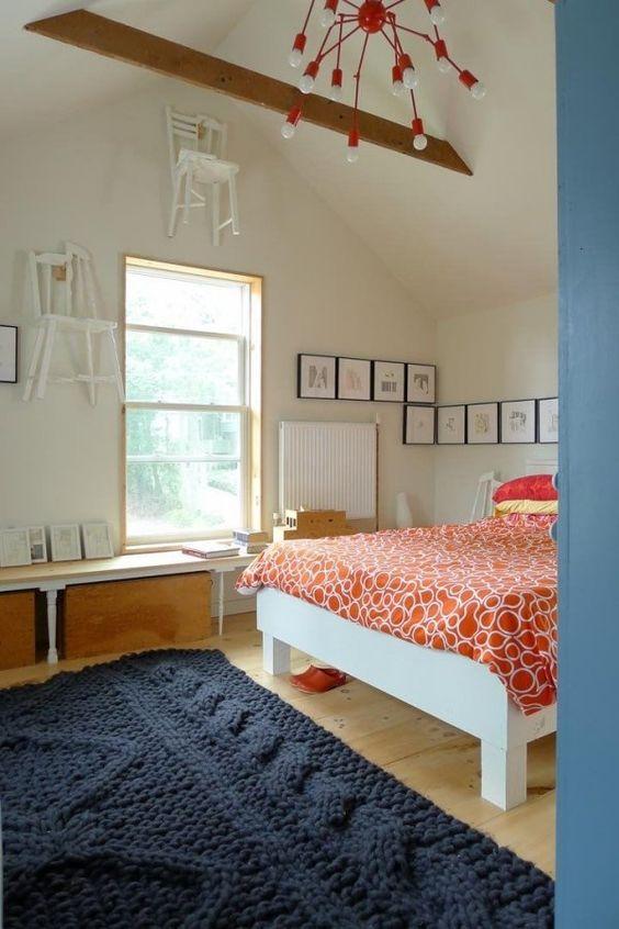 Schlafzimmer Boden Belag-Teppich-Strickoptik interior Pinterest