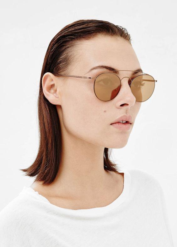mykita margiela sunglasses. mykita x maison martin margiela collaboration light wire round sunglasses in copper at totokaelo \u2014 http://totokaelo.com/maison-martin-margiela/ligh\u2026 v