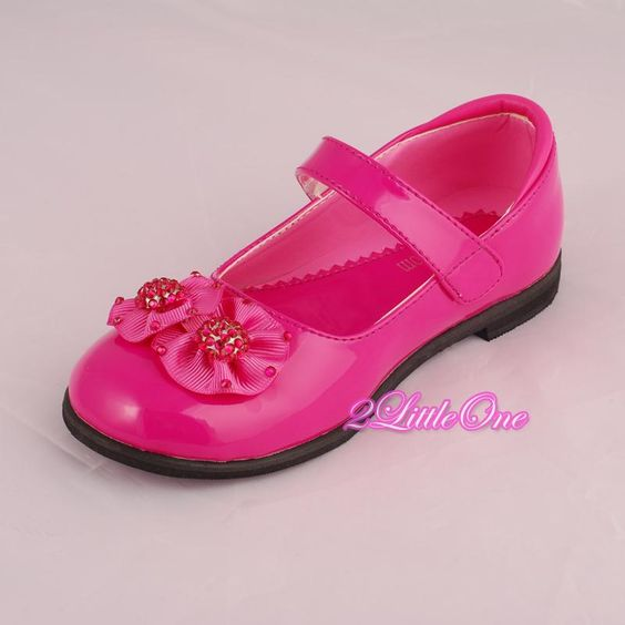 Hot-Pink-Mary-Janes-Shoes-Wedding-Flower-Girl-Pageant-Size-Youth-2-GS002