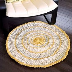Beautiful rugs handmade using recycled fabrics. This doesn't lead to a link on how to make them, I post it to remind myself to go find instructions, I like the idea and the look of these rugs.