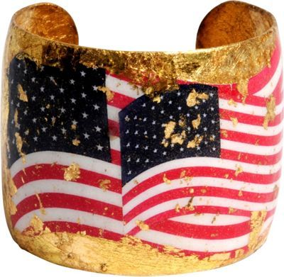 SUPER cool.. this Evocateur Multicolor 22K gold leaf cuff bracelet from @ebags is an awesome way to show your pride this #4thofjuly w/ a playful accessory! $271: American Flags, Cuff Mulitcolor, Evocateur Multicolor, Evocateur Ol, Glory Cuff, Bangles Cuffs, Cuff Bracelets, 4Thofjuly Starsandstripes