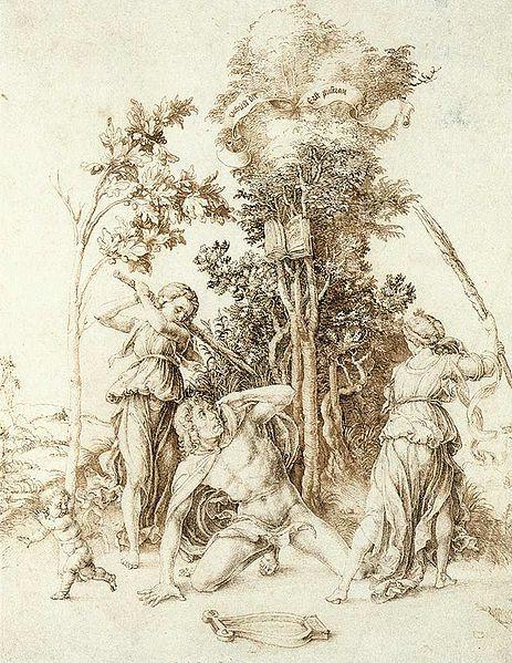 La muerte de Orfeo. Durero, 1494.: Orpheus Artist, Orpheus 1494, Dürer Orpheus, Ink Drawings, Death Of Orpheus 1498 Jpg 2310, Art Artists