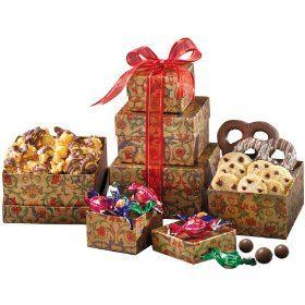 Broadway Basketeers Gourmet Mini Gift Tower of Sweets  http://www.amazon.com/gp/product/B003OP8KXM/ref=as_li_ss_tl?ie=UTF8=1789=390957=B003OP8KXM=as2=w2weblinkdir-20